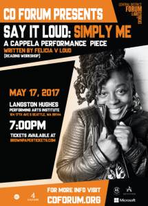 Simply Me Felicia Reading Poster